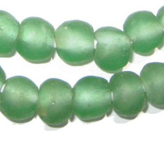 Light Green Recycled Glass Beads (14mm)