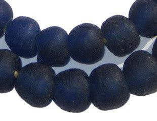Cobalt Blue Recycled Glass Beads (14mm) - The Bead Chest