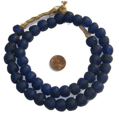 Cobalt Blue Recycled Glass Beads (14mm)