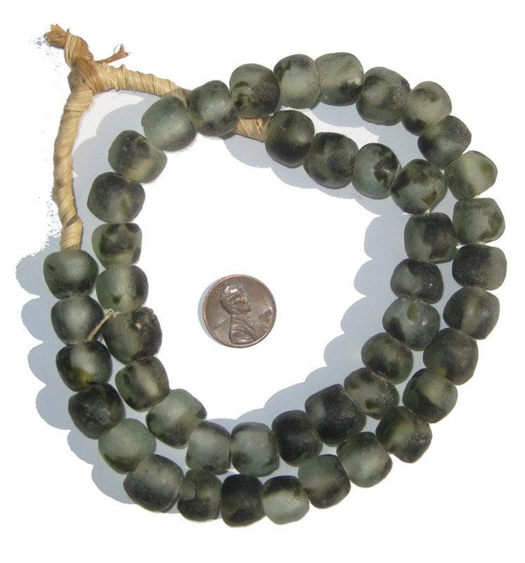 Camouflage Recycled Glass Beads (14mm) - The Bead Chest