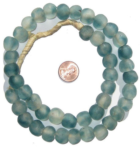 Image of Blue Wave Marine Recycled Glass Beads (14mm) - The Bead Chest