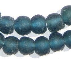 Teal Recycled Glass Beads (14mm) - The Bead Chest