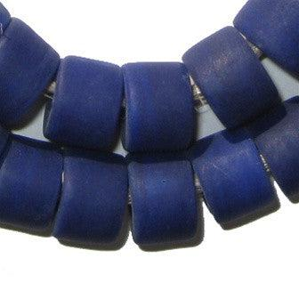 Blue Recycled Glass Beads (Tabular) - The Bead Chest