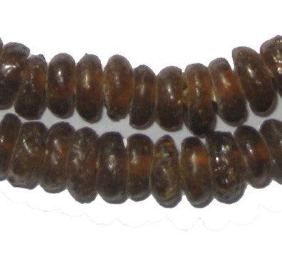 Brown Rondelle Recycled Glass Beads (Long Strand) - The Bead Chest