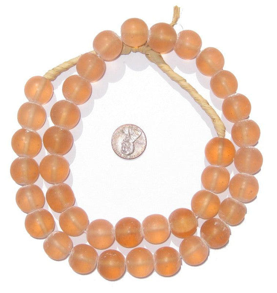 Peach Recycled Glass Beads (Large)