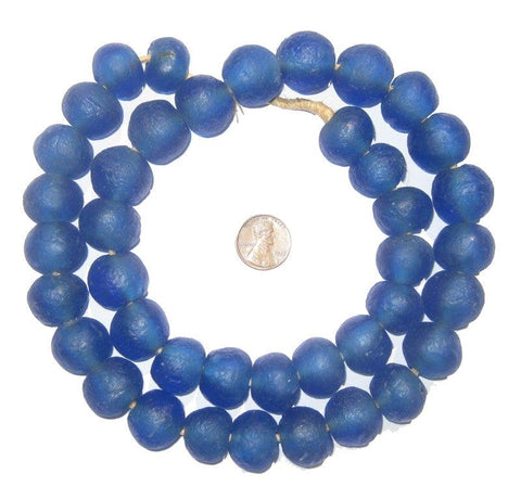 Image of Blue Recycled Glass Beads (18mm) - The Bead Chest