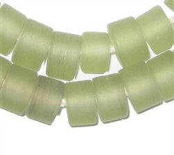 Sea Green Recycled Glass Beads (Tabular) - The Bead Chest