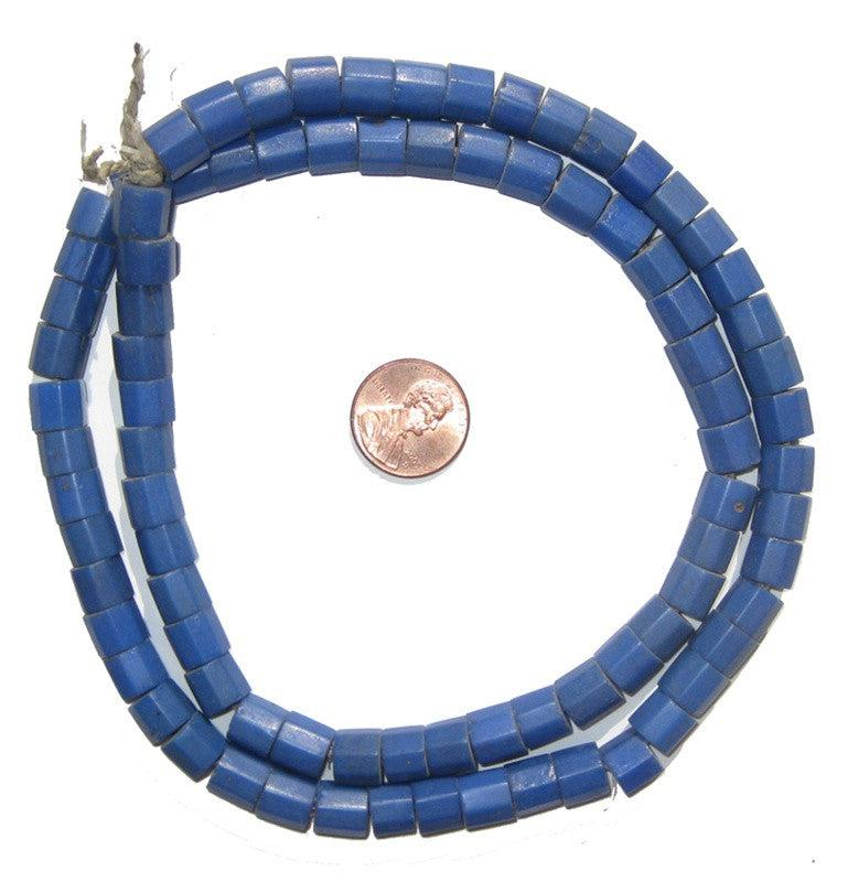 Russian Blue Glass Beads - The Bead Chest