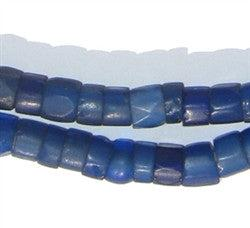 Old Russian Blue Faceted Glass Beads - The Bead Chest