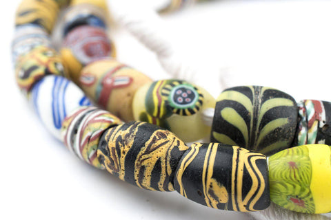Image of Oval Antique Venetian African Millefiori Trade Beads - The Bead Chest