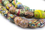 Oval Antique Venetian African Millefiori Trade Beads