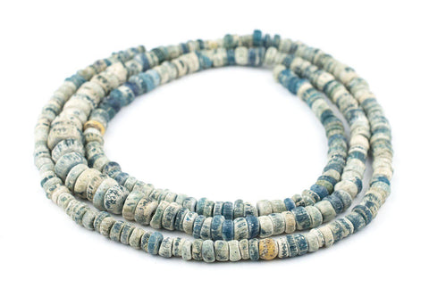 Ancient Djenne Nila Blue Glass Beads (Long Strand) - The Bead Chest