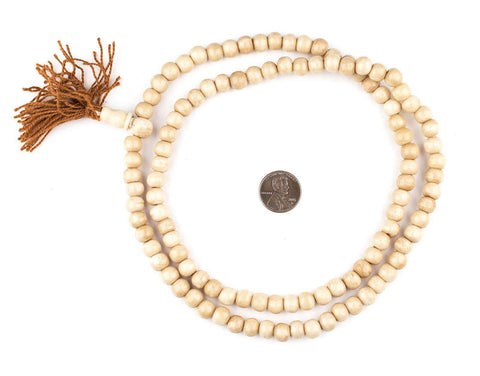 Vintage-Style Mala Bone Beads (8mm) - The Bead Chest