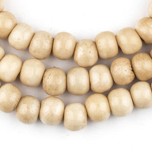 Vintage-Style Mala Bone Beads (10mm) - The Bead Chest