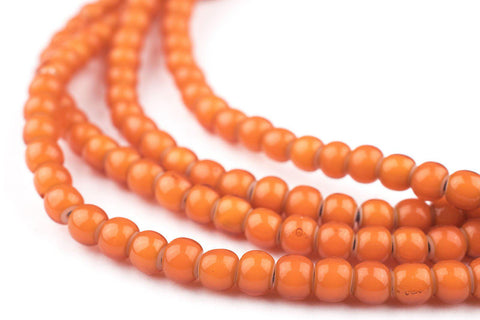 Image of Orange White Heart Beads (5mm) - The Bead Chest