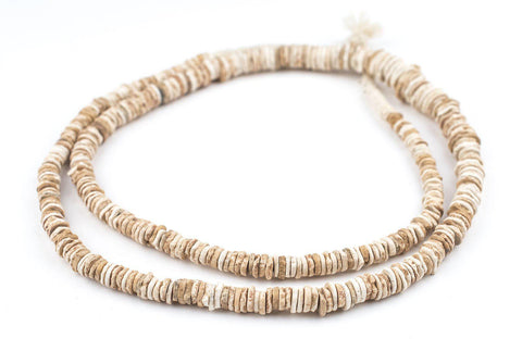Image of Old Ostrich Eggshell Beads - The Bead Chest