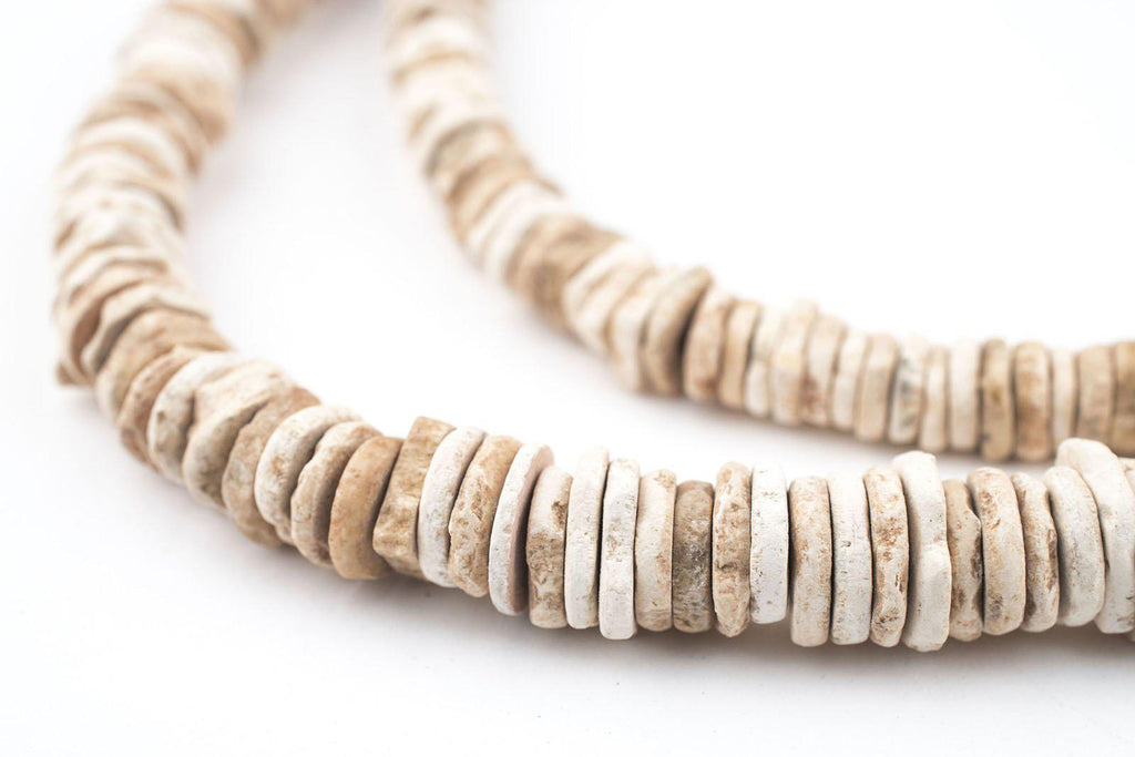 Old Ostrich Eggshell Beads - The Bead Chest