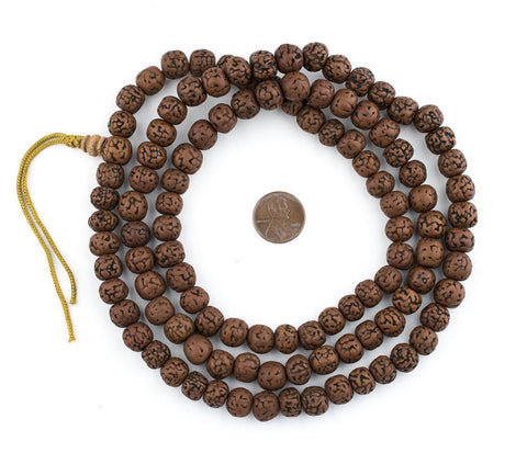Vintage-Style Rudraksha Prayer Beads (10mm) - The Bead Chest