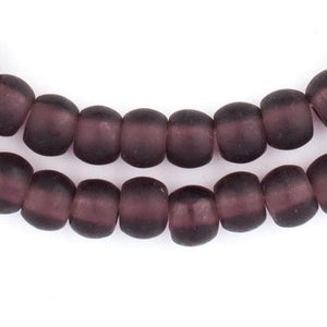 Purple Recycled Glass Beads (11mm) - The Bead Chest