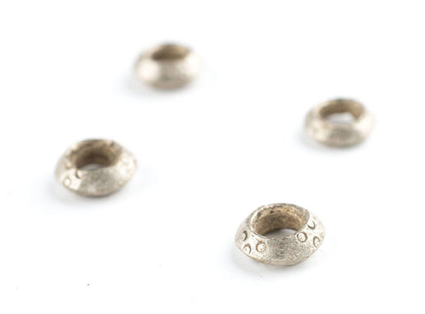 Silver Ethiopian Wollo Ring Beads (12mm) (Set of 4) - The Bead Chest