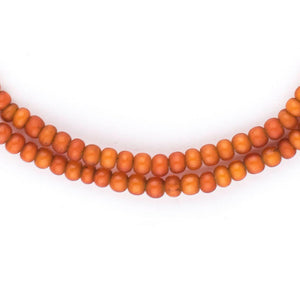 Orange White Heart Beads (4mm) - The Bead Chest