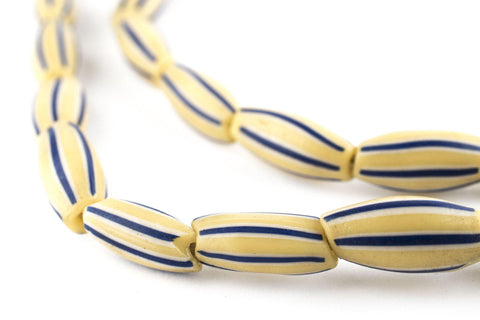Image of Yellow Striped Watermelon Chevron Beads - The Bead Chest