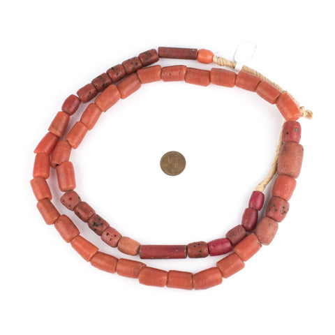 Yoruba Mock Coral Beads (Long Strand) - The Bead Chest
