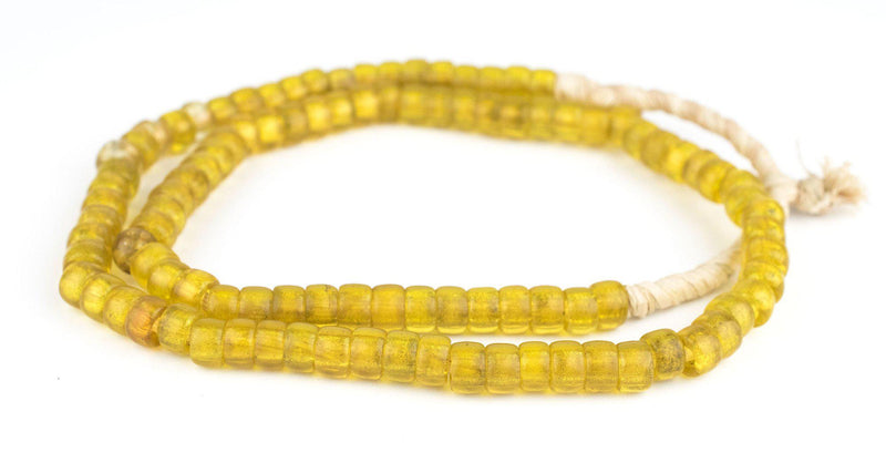 Old Semi-Translucent Yellow Padre Beads - The Bead Chest