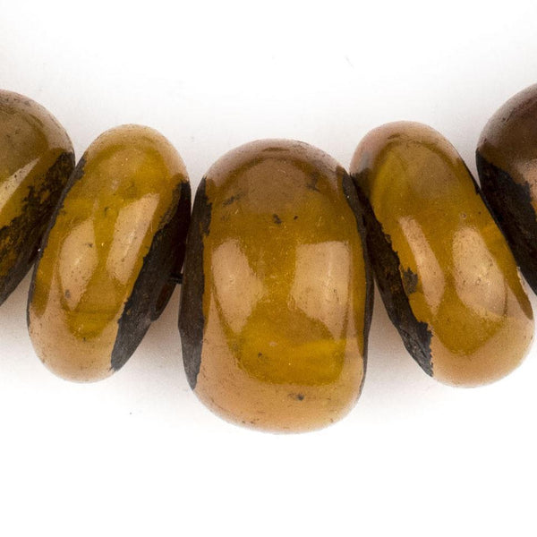 Moroccan Translucent Honey Amber Resin Beads (Graduated)