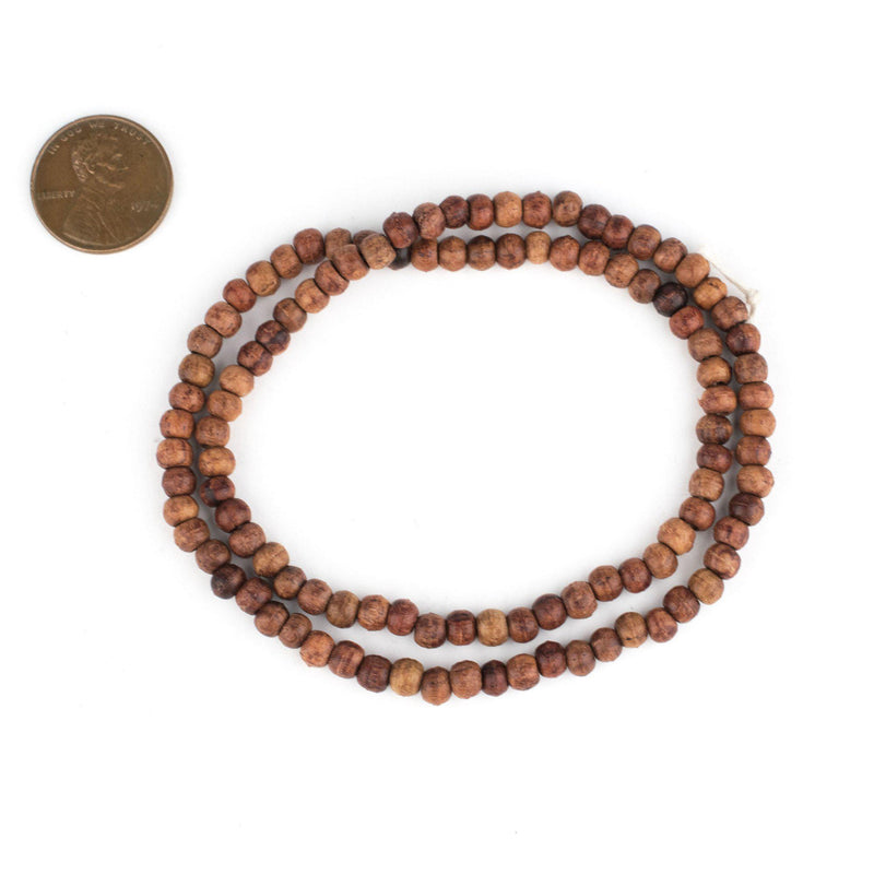 Rosewood Beads (4x5mm) - The Bead Chest