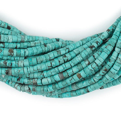 Hosseini Turquoise Cylinder Beads (2x3mm) - The Bead Chest