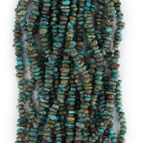 Natural Turquoise Stone Chip Beads (3x6mm) - The Bead Chest