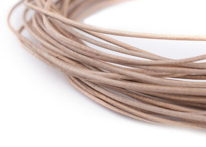 0.8mm Natural Round Leather Cord (15ft)