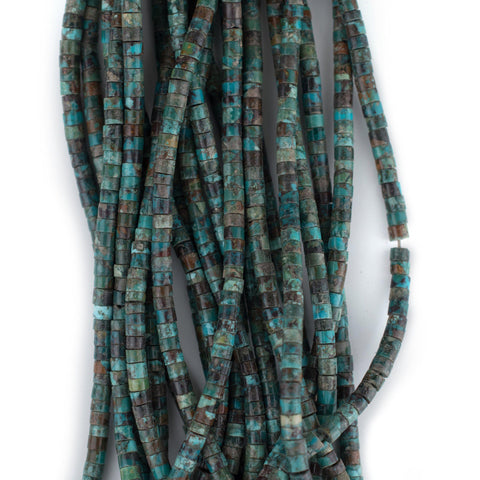 Image of Dark Turquoise Stone Heishi Beads (3mm) - The Bead Chest