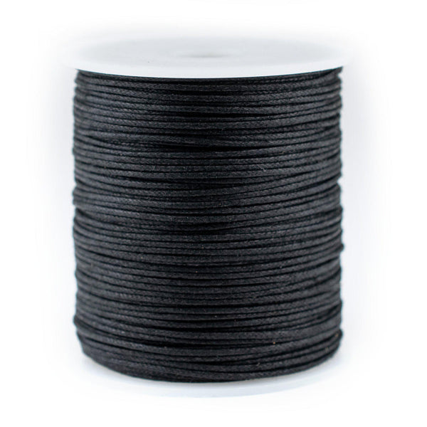 1.0mm Black Waxed Cotton Cord (300ft)