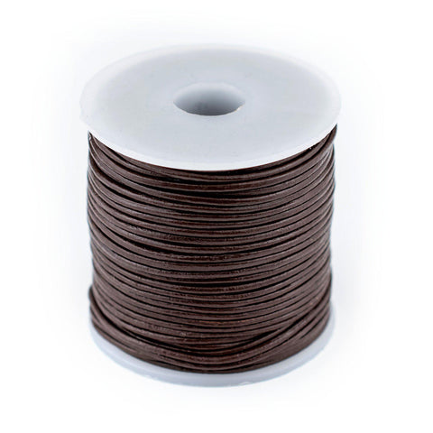 1.0mm Dark Brown Round Leather Cord (75ft)