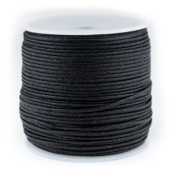 1.5mm Black Waxed Cotton Cord (300ft)