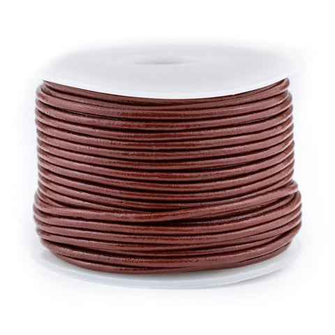 1.5mm Brown Round Leather Cord (75ft)