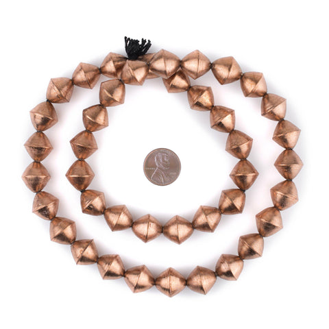 Copper Mali Bicone Beads (15mm) - The Bead Chest