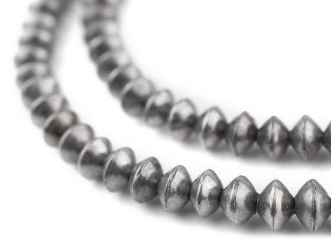 Ethiopian Silver Saucer Beads (8mm) - The Bead Chest