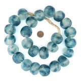Super Jumbo Blue Wave Marine Recycled Glass Beads (32mm)