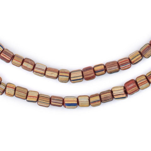 Rainbow Stripe Java Gooseberry Beads - The Bead Chest