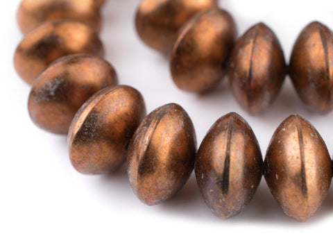 Ethiopian Copper Saucer Beads (24mm) - The Bead Chest