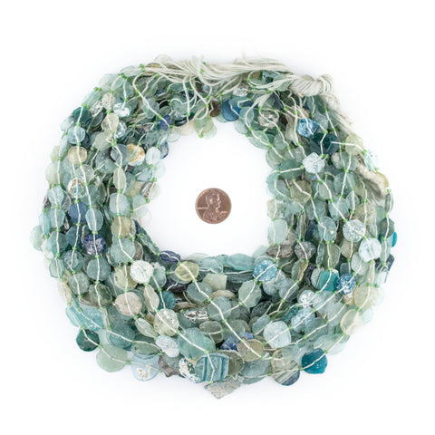 Image of Circular Disk Graduated Ancient Roman Glass Beads (9-16mm) - The Bead Chest