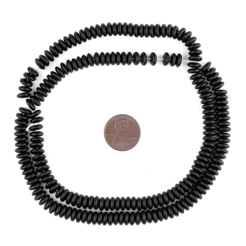 Image of Czech Black Button Beads (6mm) - The Bead Chest