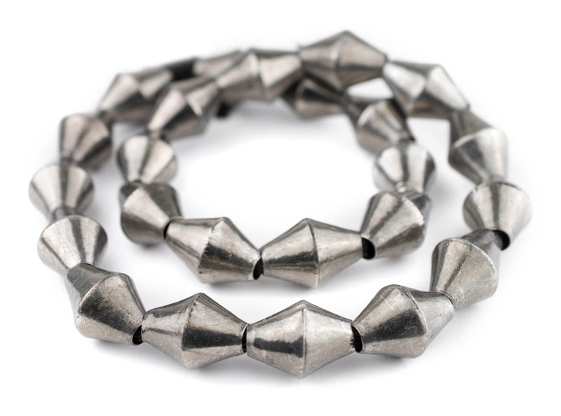Jumbo Silver Mali Bicone Beads (26x20mm) - The Bead Chest