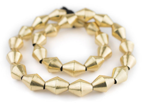 Brass Mali Bicone Beads (22x16mm) - The Bead Chest