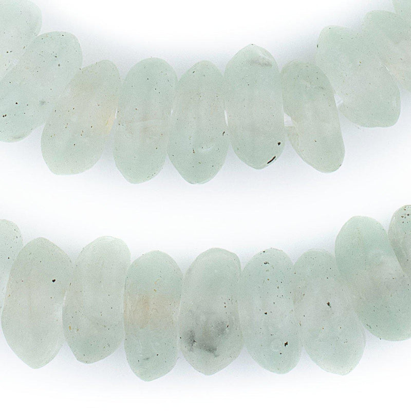 Jumbo Clear Rondelle Recycled Glass Beads - The Bead Chest