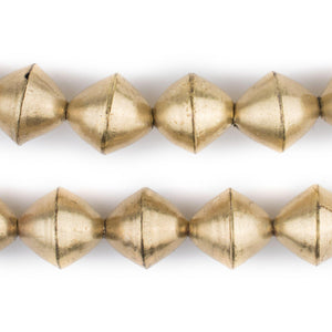 Brass Mali Bicone Beads (15mm) - The Bead Chest