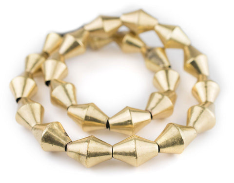 Jumbo Brass Mali Bicone Beads (26x20mm) - The Bead Chest
